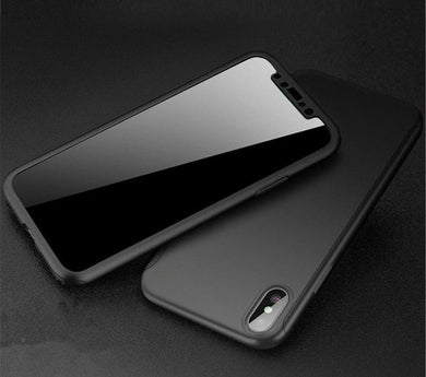 COQUE ETUI 360° PROTECTION INTEGRAL POUR IPHONE 8/X/7/Plus/6/5S/XR/11 PRO MAX  SE