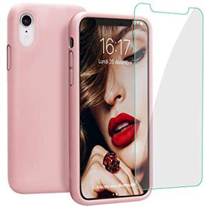 iphone xr coque silicone rose