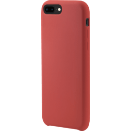 Coque en Gel de Silicone Doux pour Apple iPhone 7 Plus 8 Plus Rouge Ardent