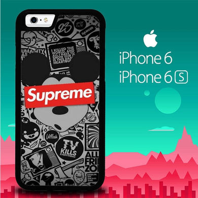 Mickey Mouse Supreme P1089 coque iPhone 6, iPhone 6S