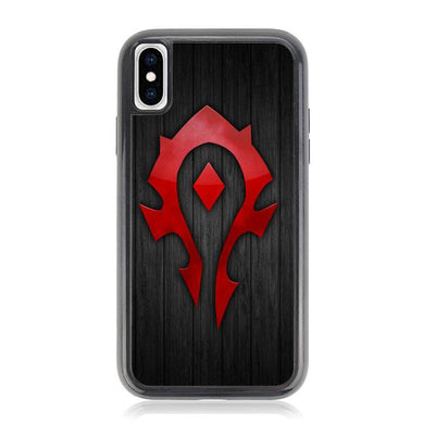 world of warcraft horde logo Z4853 iPhone XS Max coque