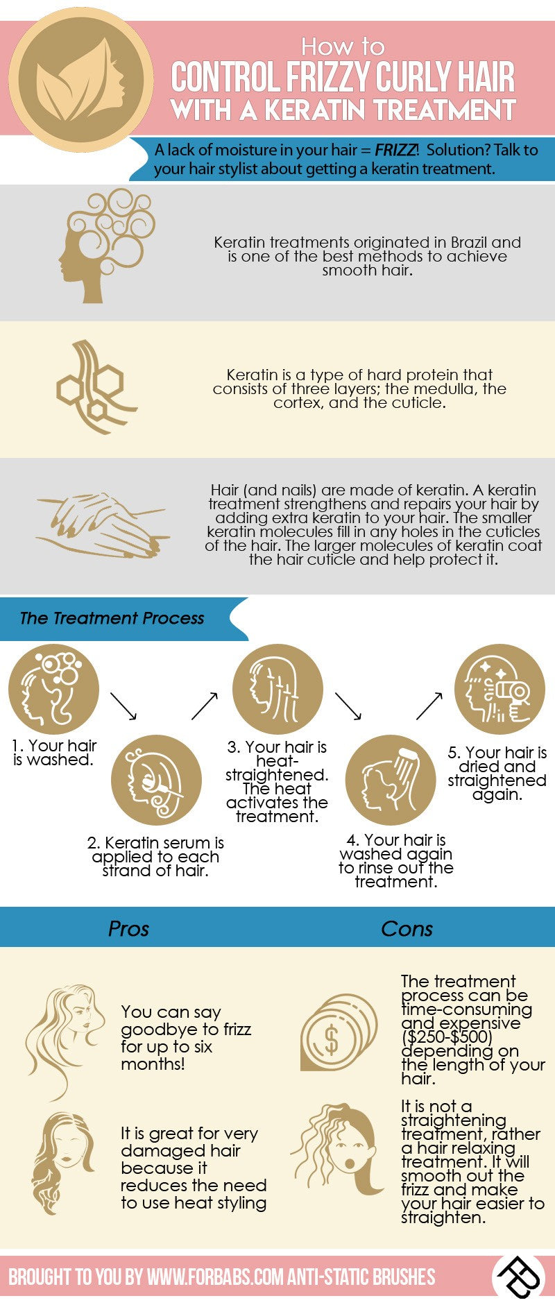 How to Control Frizzy Curly Hair Infographic