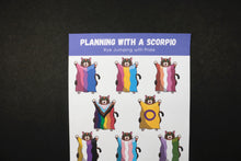 Load image into Gallery viewer, Hand Drawn Jumping with Pride Cat Planner Stickers | Choose your Pride Flag
