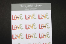 Load image into Gallery viewer, Hand Drawn Love Wins Planner Stickers
