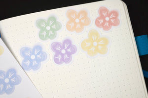 Hand Drawn LGBTQ+ Pride Floral Planner Stickers