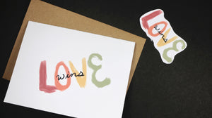 Love Wins Handmade Greeting Card