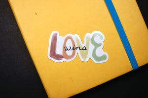 Waterproof Love Wins Sticker