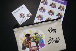 Gay Stuff Parade Pouch | Rye and Sage Canvas Pouch