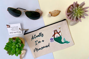 Cat Mermaid Canvas Pouch