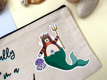 Load image into Gallery viewer, Cat Mermaid Canvas Pouch