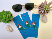 Load image into Gallery viewer, Handmade Cat Mermaid Bookmark