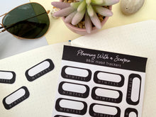 Load image into Gallery viewer, Black and White Habit Tracker Planner Stickers
