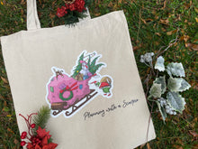 Load image into Gallery viewer, The Cats that Stole Christmas Canvas Tote Bag