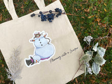 Load image into Gallery viewer, Rye the Snow Cat Canvas Tote Bag