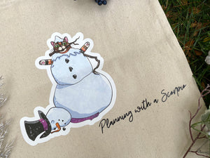Rye the Snow Cat Canvas Tote Bag
