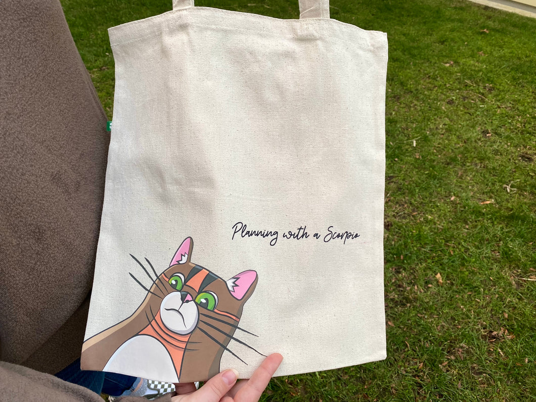 Double Chin Rye Canvas Tote Bag
