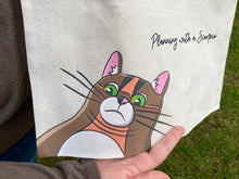 Load image into Gallery viewer, Double Chin Rye Canvas Tote Bag