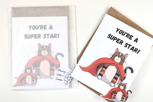Rye's A Super Hero! | Thank you & Appreciation Blank Greeting Card