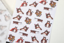 Load image into Gallery viewer, Mini Rye Variety | Hand Drawn Cat Stickers Rye 006