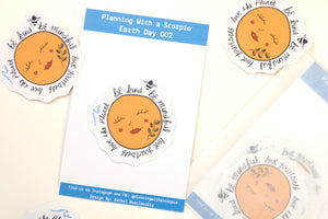 Earth Day Die Cut Stickers | Earth Day 002