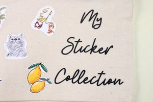 Rachel's Sticker Collection Gift Set | 5x8in Canvas Pouch and 5 Sticker Sheets