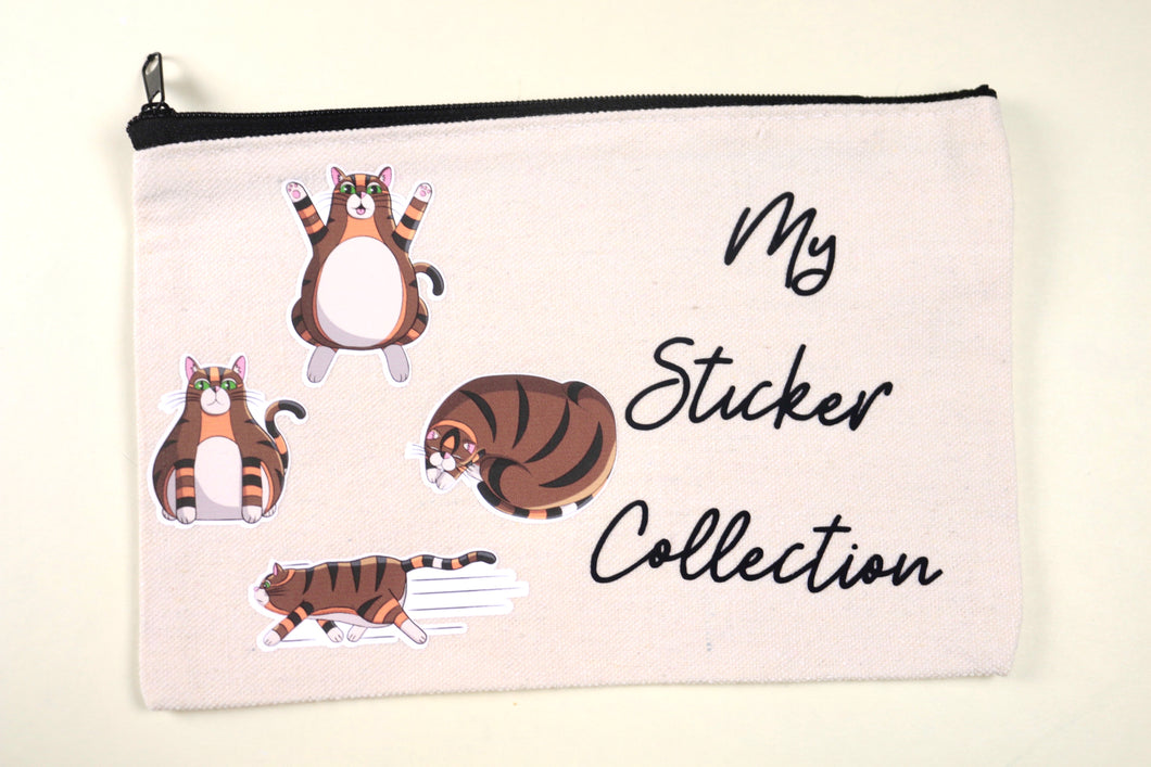 Rye's Sticker Collection Canvas Pouch