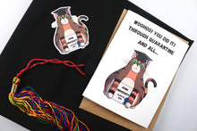 Load image into Gallery viewer, Handmade Zoom University Quarantine Graduation Card