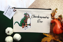 Load image into Gallery viewer, Chonkasaurus Rex Canvas Pouch