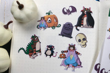 Load image into Gallery viewer, Hand Drawn Cat Halloween Costume Planner Stickers