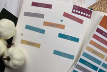 Load image into Gallery viewer, Weekly Fall Planner Stickers