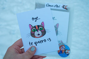 Oye Te Quiero Greeting Card