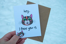 Load image into Gallery viewer, Hey I Love You Greeting Card