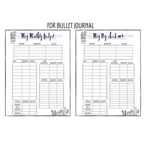May Monthly Bullet Journal Budget Planner Printable