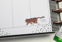 Load image into Gallery viewer, Rye With the Zoomies | Hand Drawn Cat Stickers 002