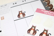 Load image into Gallery viewer, Rye Does a Sit | Hand Drawn Cat Stickers 003