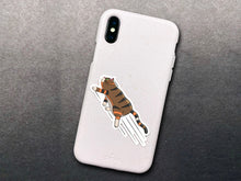 Load image into Gallery viewer, Waterproof Matte Vinyl Zooming Cat Sticker