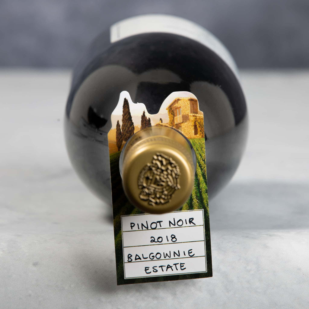 Wine cellar bottle tags