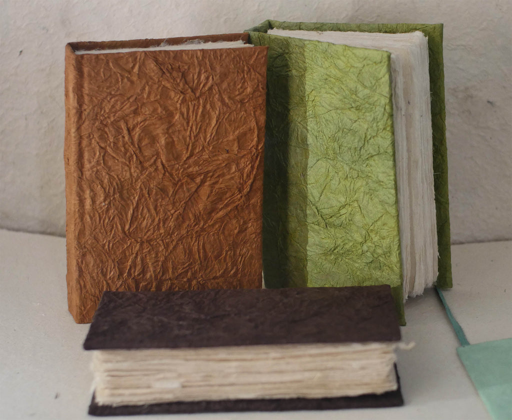 Vegetable Dyed crinkle cover Journal – 96 deckle edge  pages