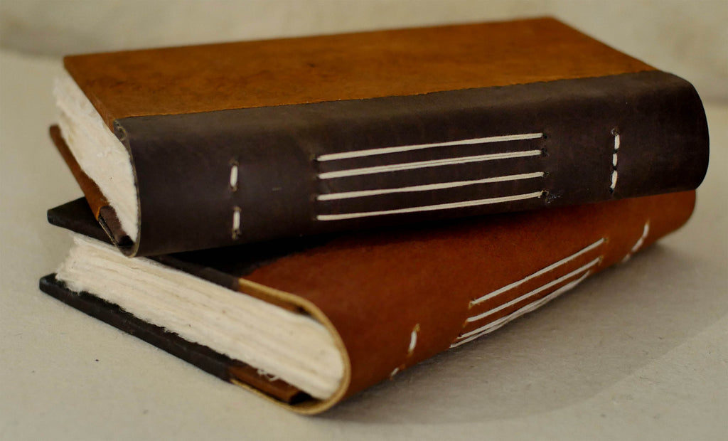 "5 x 8"" Water Buffalo Leather bound Journal – 96 deckle  edge pages"