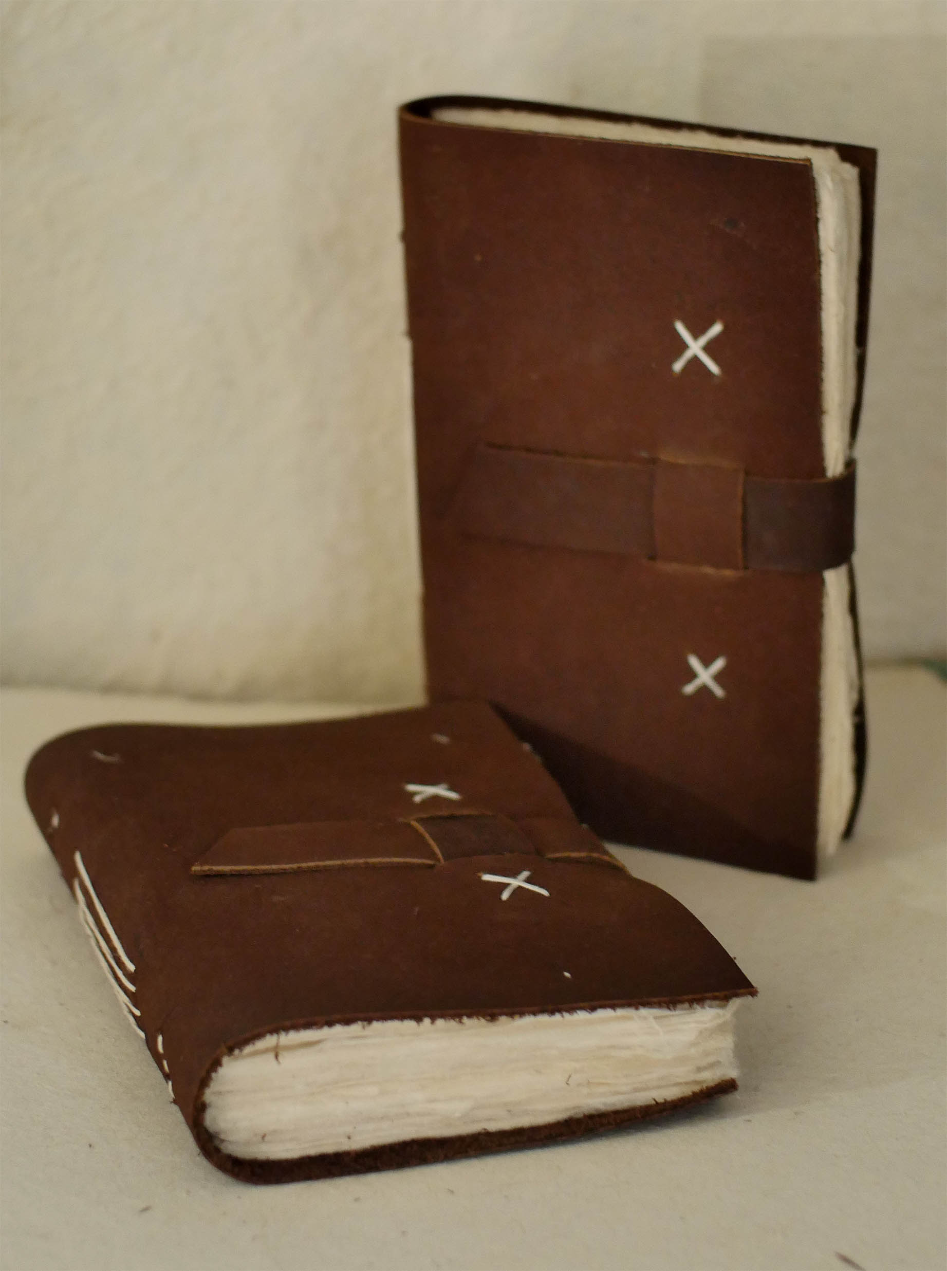 Water Buffalo cover Belt Style Journal – 96 deckle edge  pages