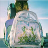 Clear Pvc Waterproof Women Backpack Fun Star