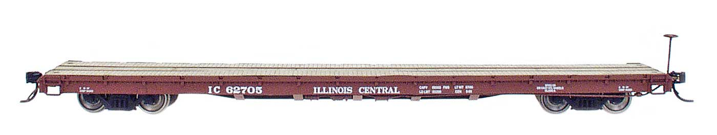 InterMountain HO 60' Wood Deck Flat Car - Illinois Central
