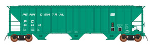 INTERMOUNTAIN 4785 PS2-CD COVERED HOPPER - EARLY FRAME - PENN CENTRAL - GREEN REPAINT