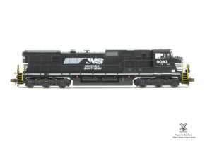 OPERATOR N SCALE GE DASH 9-44CW, NORFOLK SOUTHERN ROAD NUMBER 9083 DCC EQUIPPED