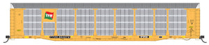 HO Scale InterMountain Bi-Level Auto Rack - Transportacion Ferroviaria Mexicana - TTGX Flat Car - Pre-Order
