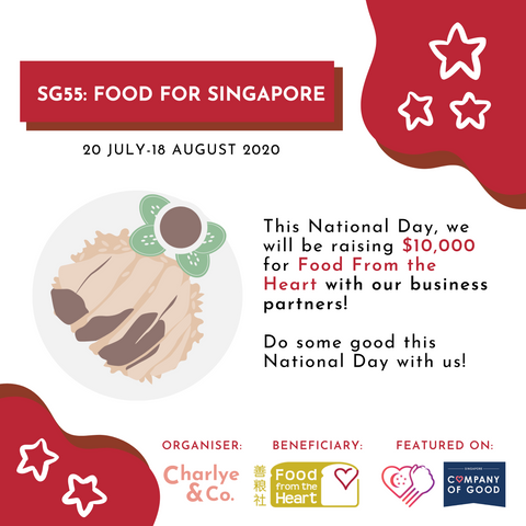 Charlye & Co. SG55: Food for Singapore Fundraising