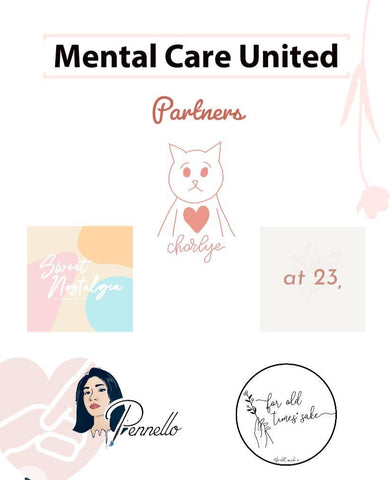 Charlye & Co, For Old Time Sake Co, Pennello Nails, Sweet Nostalgia Bakery, at23co will be partnering with Silent Conditions's Mental Health Care United Initiative to raise funds for Silver Ribbon Singapore