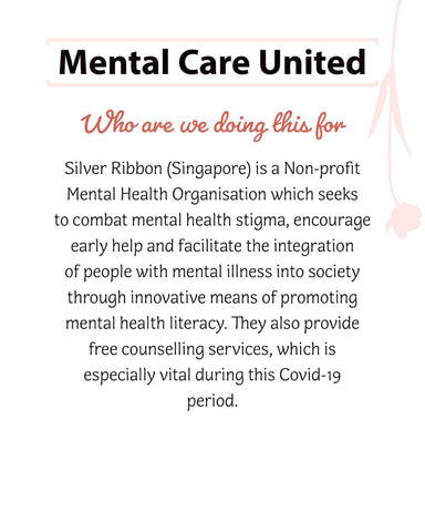 Charlye & Co will be partnering with Silent Conditions's Mental Health Care United Initiative to raise funds for Silver Ribbon Singapore