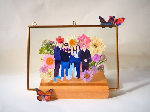 Charlye & Co. Floral Frame with For Old Time Sake Co.