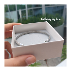 Charlye & Co., Customisable & Personalised Bracelets (Charlye & You #1) , Silver, Back View